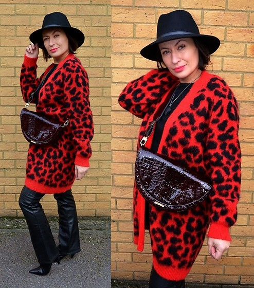 Adriana Style -  - Black & Red Leopard Print