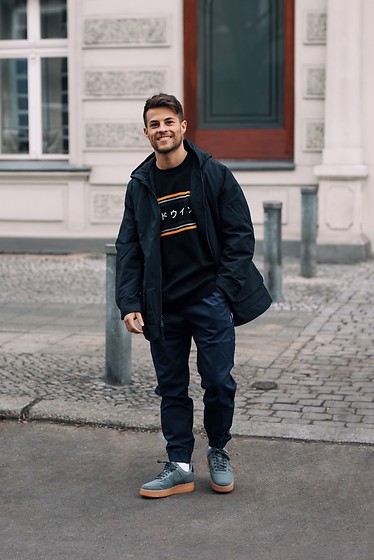 Kevin Elezaj - Nike Sneakers, Obey Pants, Asos Sweater, J. Crew Jacket - Easy