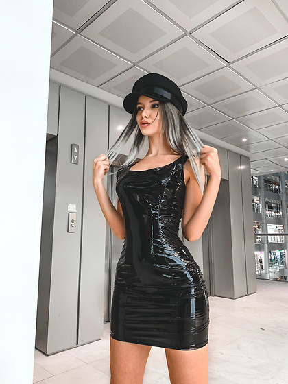 Krist Elle - Fashion Nova Black Latex Dress - BLACK LATEX DRESS / Krist Elle