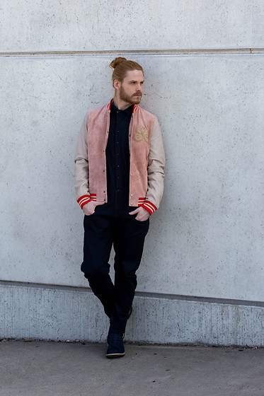 Maik - Scotch & Soda Jacket, G Star Raw Overall, G Star Raw Boots - Pink College jacket