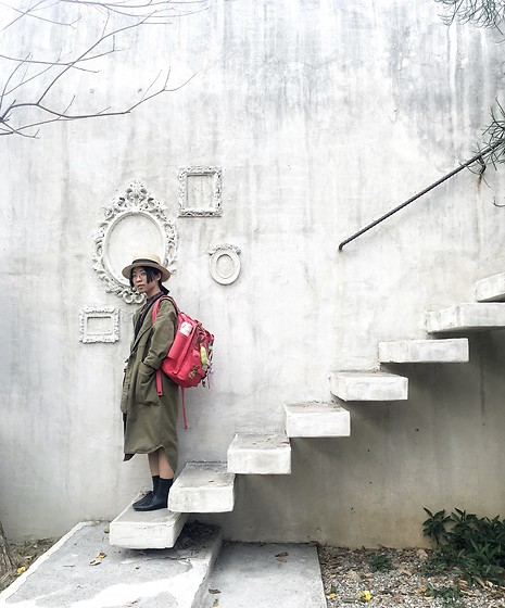 Flosmoony - Monki Jacket, Dougnuts Backpack, Globalwork Hat - First day in Taichung