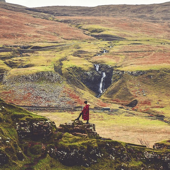 Wioletta M - Asos Coat, New Look Hat, Karrimor Shoes - Scotland. My winter travel look to Fairy Glen