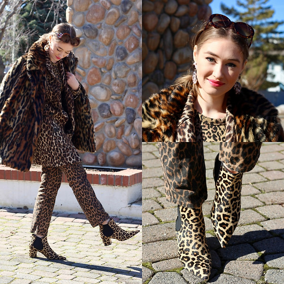 Taylor Doucette - Ralph Lauren Faux Fur Leopard Print Coat, Forever 21 Tortoise Shell Earrings, Zara Cheetah Print Jeans, Zara Cheetah Print Boots, Zara Wool Leopard Print Coat - Missed Connection - The Head and The Heart