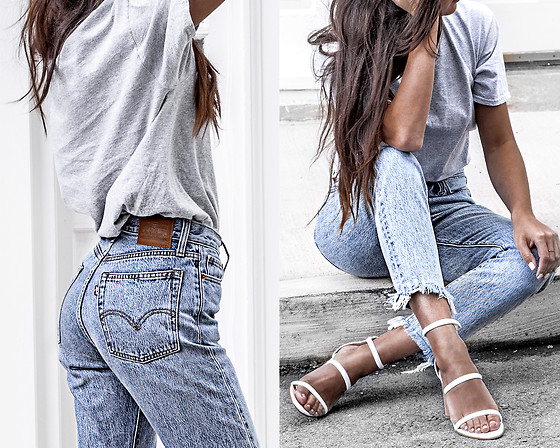 Kristina -  - Boxy tee and levi jeans
