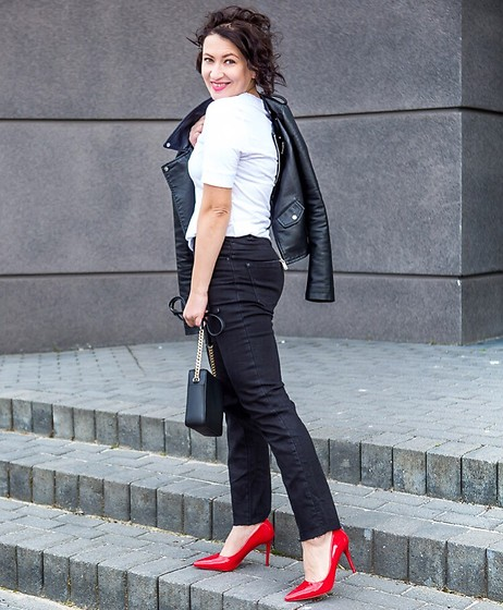 Adriana Style - Reserved Jeans, Zara Heels - 3 colours outfit