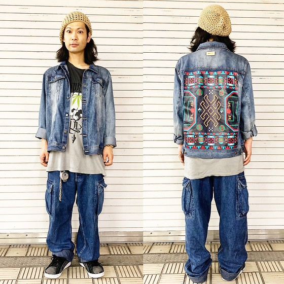@KiD - Insight Denim Jacket, Cypress Hill Tee, Rrl Buggy Jeans, Vivienne Westwood Cigarettes Case, Air Walk The One - JapaneseTrash496