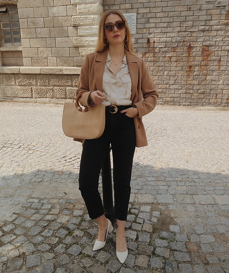 Tímea C - Zara Shoes, H&M Blazer - Little miss neutrals