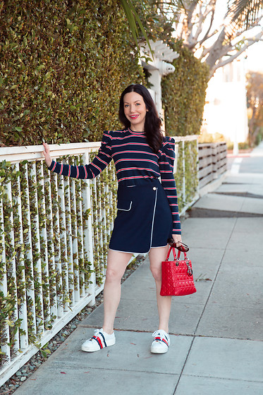 Lisa Valerie Morgan - Tommy Hilfiger Sneakers, Christian Dior Bag - Striped Top and Sneakers