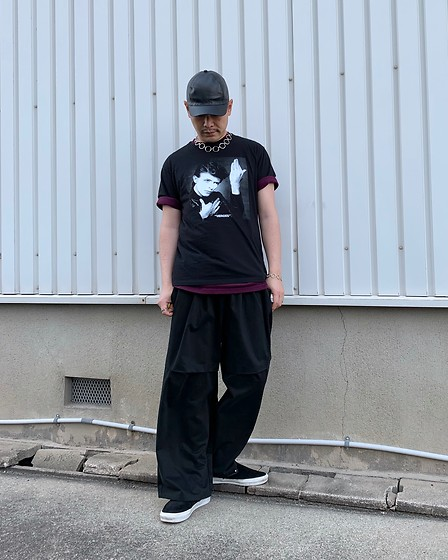 ★masaki★ - Gucci Leather Cap, David Bowie Heroes, Komakino Wide Jogger, Vans Vault - HEROES