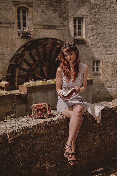 Dépêches Mode - Mad Vintage Dress, Zaful Bag - Le moulin de Bayeux