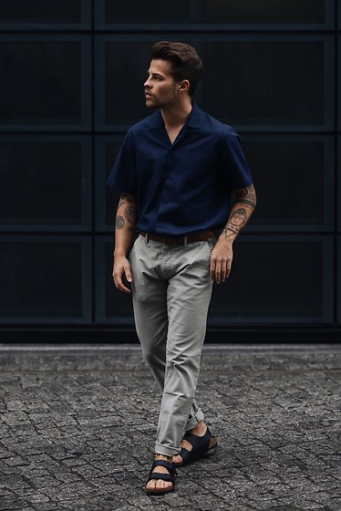 Kevin Elezaj - Birkenstock Sandals, Scotch & Soda Pants, Sandro Shirt - July 8
