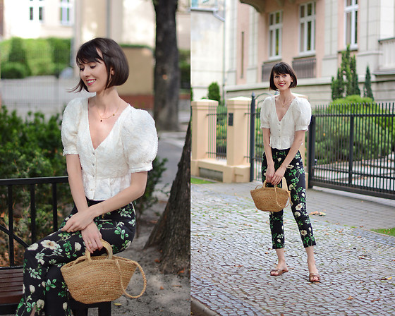 Daisyline . - Mango Flats, Mango Bag, H&M Pants, Zara Top - Puffy sleeves / www.daisyline.pl