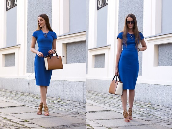 Ewa -  - Blue midi dress