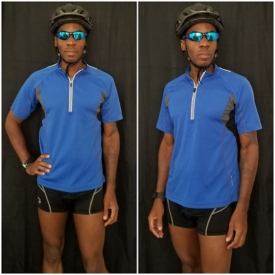 Thomas G - Serfas Cycling Jersey, Tenn Outdoors Cycling Shorts, Garmin 910xt, Bell Bicycling Helmet, Italy Design Sunglasses - Cycling apparel