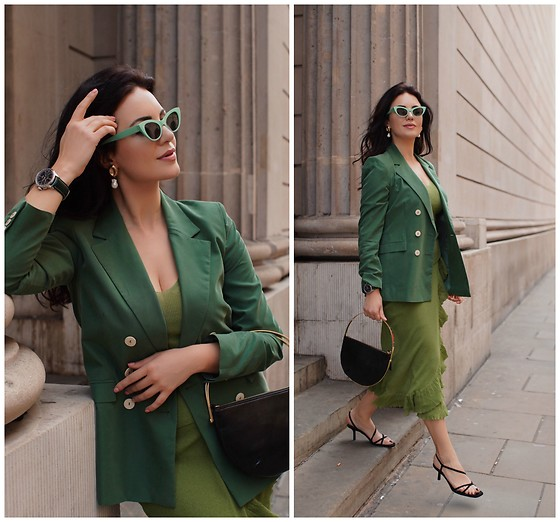 Edisa Shahini - Mango Blazer, Mango Skirt, Breitling Watch - IN LONDON WITH BREITLING