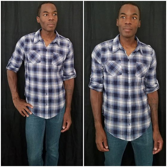 Thomas G - Zac & Rachel Plaid Shirt, Epic Threads Skinny - Plaid shirt + Skinny jeans