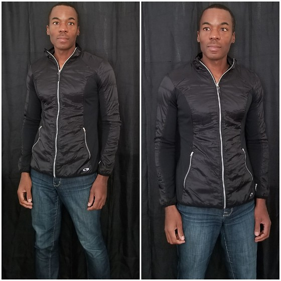 Thomas G - The Limited Denim Simply Straight 678, C9 Champion Zip Up Fleece - Zip-up fleece + Stretch denim