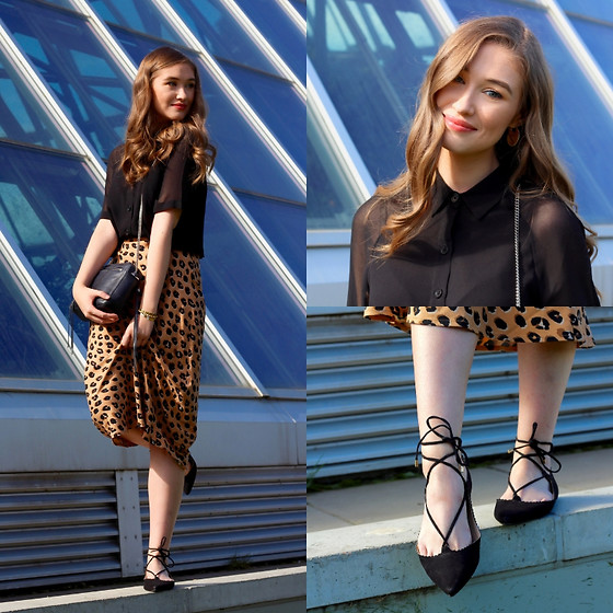 Taylor Doucette - Aritzia Sheer Collared Shirt, Target Cheetah Print Skirt, Topshop Laced Shoes - If You Need Me - Julia Michaels