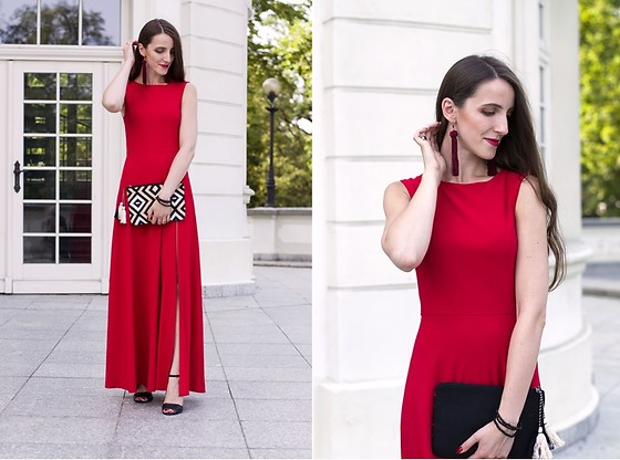 Ewa -  - Red maxi dress