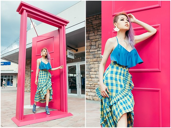 Sheena Son - Shein Top, Iki2 Heels - Anywhere Door