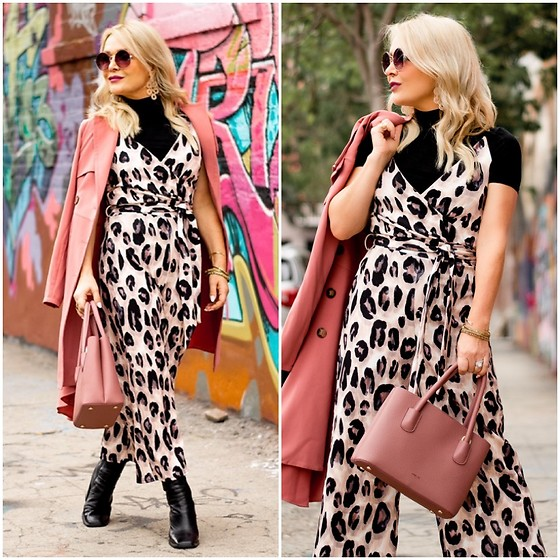 Zia Domic - Quiz Leopard Jumpsuit, Lulus Mock Turtleneck - Leopard Layers