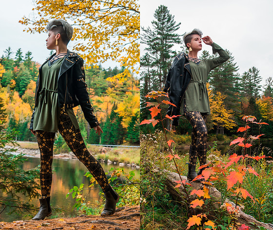 Carolyn W - Leather, Zulily Crossed, Femme Luxe Tie, Black Milk Clothing Geometry, Fluevog Black - Down by the River (Autumn Edition)