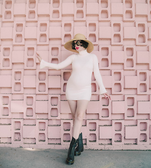 Amy Roiland - Revolve Dress, Dr. Martens Boots - BUMP STYLE