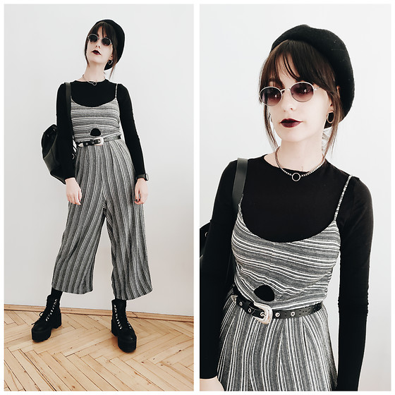 Klaudia - Pull&Bear Jumpsuit, H&M Belt -  back to uni