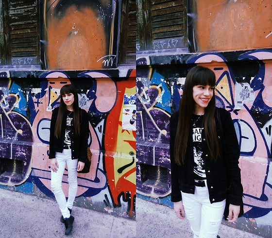 Valéria Przysbeczyski - Billie Brothers Jacket, Highlight Sounds T Shirt, Converse All Star, Frame Denim Jeans - Atomic Garden