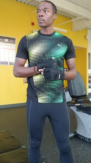 Thomas G - Puma T Shirt, Valeo Weight Lifting Gloves, Gore Running Wear Tights - For me, exercise is more than just physical...