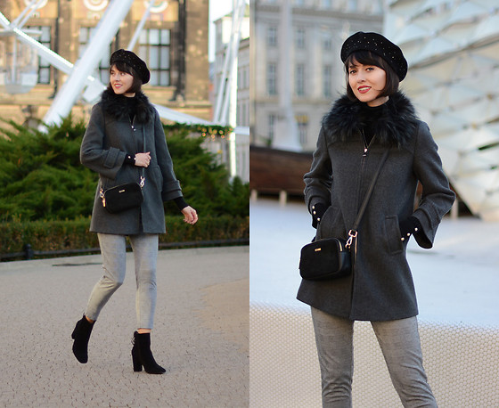 Daisyline . - Zara Coat, Reserved Pants, Reserved Hat, Kiomi Shoes - Black & grey / IG: daisylineblog