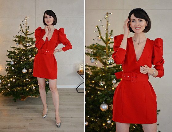 Daisyline . - Zara Heels, Nelly Dress - Red dress for Holidays / Ig: daisylineblog