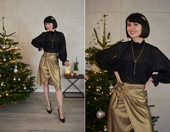 Daisyline . - Yas Skirt, Cream Blouse - New Year's eve look / IG: daisylineblog