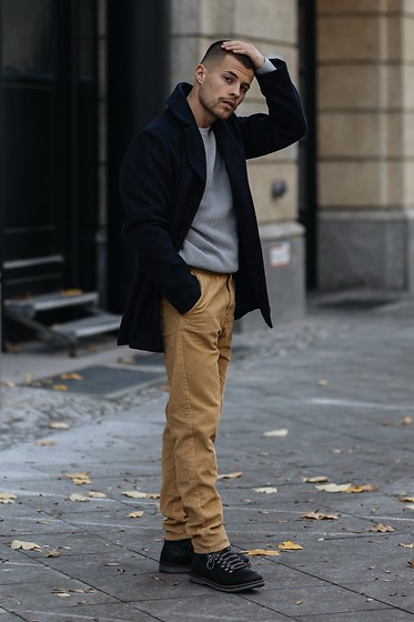 Kevin Elezaj - Tommy Hilfiger Boots, J. Crew Pants, Allsaints Sweater, Tommy Hilfiger Coat - January 5th
