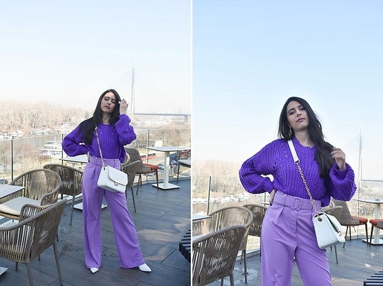 "Jelena Dimić - Shein Purple Sweater, Shein Lavender Trousers, Cocopat Bag ""Una"", Shein Ankle Boots - My ambitions were too high"