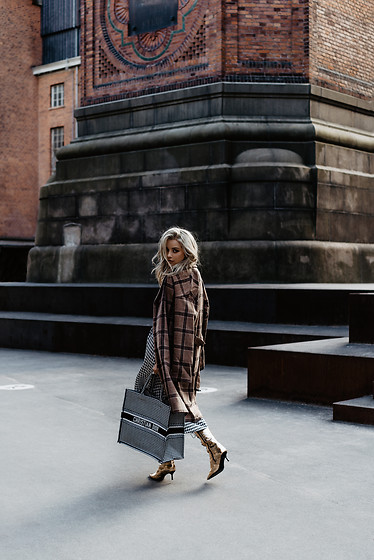 Joicy Muniz - Numph Coat, Tommy Hilfiger Dress, Christian Dior Bag - On the street
