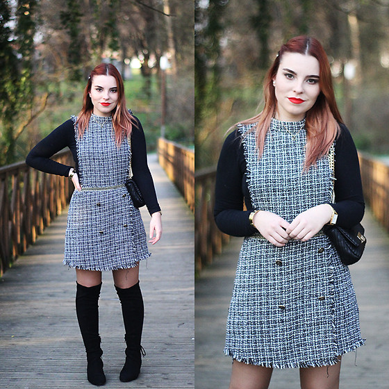 Carina Gonçalves - Yoins Dress, Pull & Bear Boots - If you're sad, add more Lipstick and attack