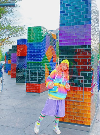LalAismi Wai - Nike Shoes, Marc Jacobs Bag, Lalaismi Wai Skirt - Rainbow color mix and match🌈