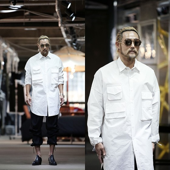 INWON LEE - Byther Multi Pocket Baggy Extra Long Shirt - Full of Pockets