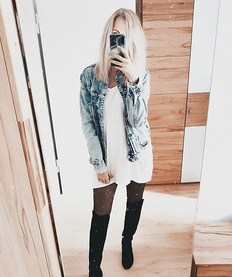 Vanessa ♡ - H&M - White dress and jeans