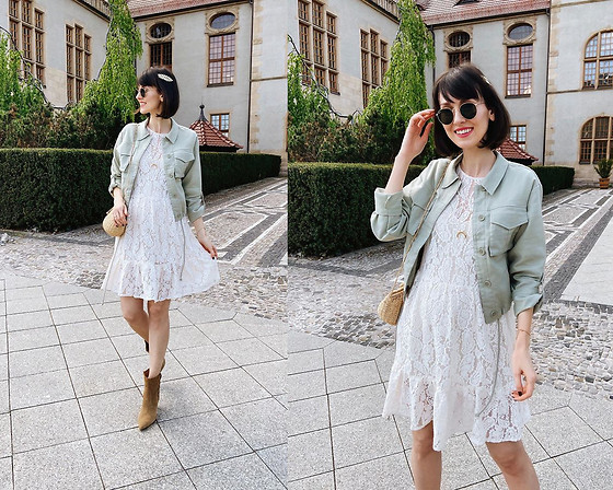Daisyline . - Zara Dress, Reserved Jacket - Romantic city look / IG: daisylineblog