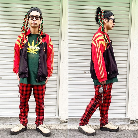 @KiD - Typhoon Mart Sunglasses, Represent Ganja Mark, Adidas African Jersey, Adidas Bondage Jersey, Vivienne Westwood Cigarette Case, George Cox Rubber Sole - JapaneseTrash568
