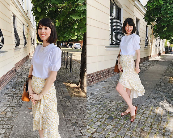 Daisyline . - Mango Flats, Pull & Bear Skirt, Pull & Bear Top - First summer look / Ig: daisylineblog