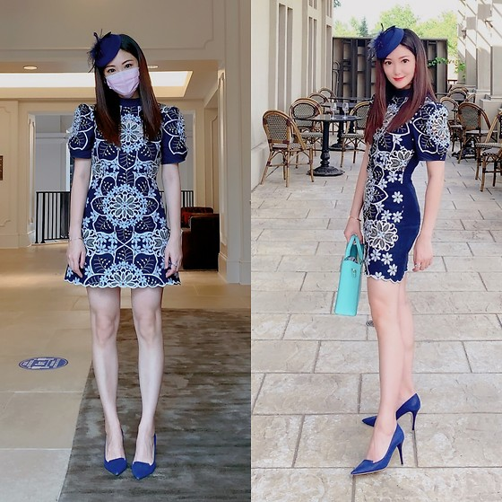 Ming Francis - Jimmy Choo Pumps, Alice Mccall Embroidered Dress, Sophie Hulme Tote - Hi Tea Look