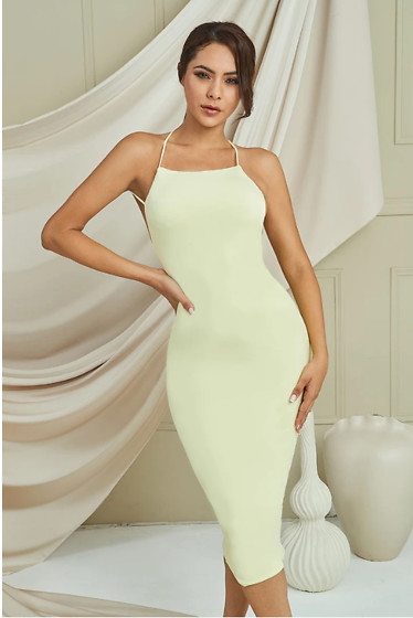Christina S - Bellabarnett Gracie Midi Dress In Lime - Midi Dress In Lime