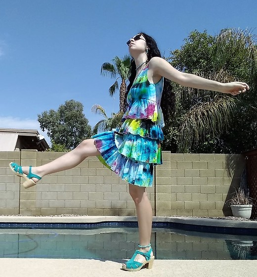 Saguaro Style - Made By Me! Tie Dye Dress, Sven Clogs Turquoise - 08.18.20