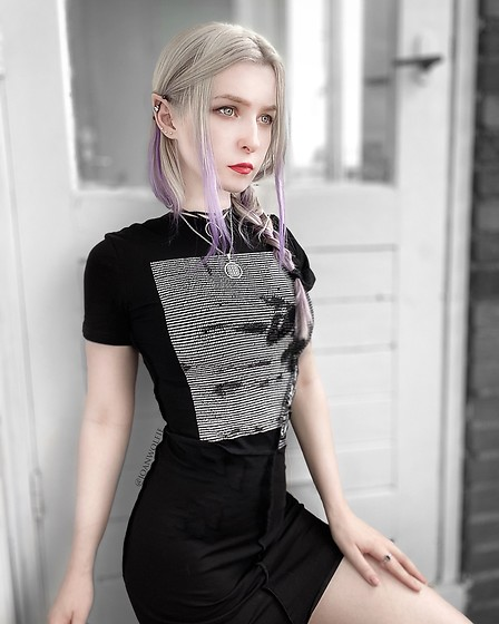 Joan Wolfie - Punk Design Shop Dress - GOTH ELF 🧝‍♀️ // IG: @joanwolfie