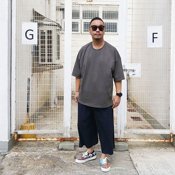 Mannix Lo - Oversize Tee, Zara Wide Cropped Pants, Vans Era Patchwork Sneakers - Truth can change peoples