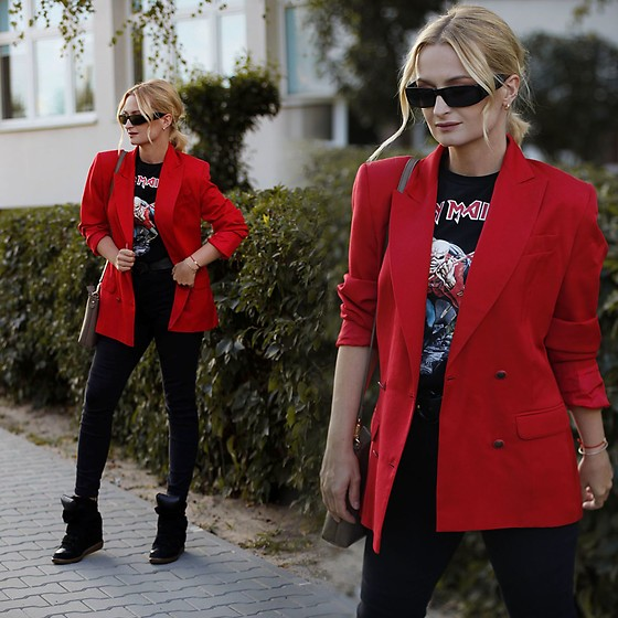 Daria Darenia - Isabel Marant Shoes - Red Blazer