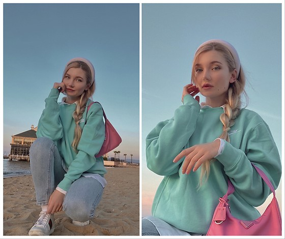♡Anita Kurkach♡ - Gucci Shoes, Nike Sweater Shirt, Prada Bag - Minty mood
